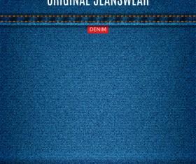 Original denim blue texture background vector 06