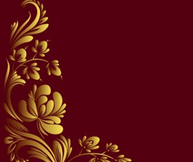 Ornate floral decorative border corner 01