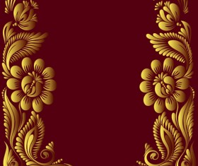 Ornate floral decorative border corner 02