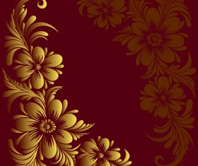 Ornate floral decorative border corner 03