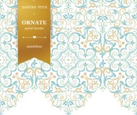 Ornate pastel border seamless vector 03