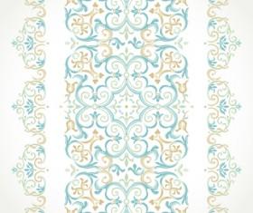 Ornate pastel border seamless vector 04