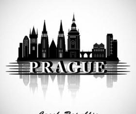 Prague city background vector
