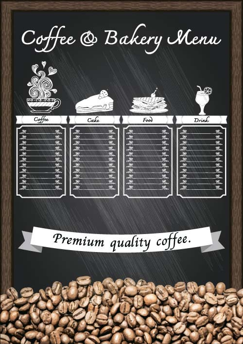 Price List Menu For Cafe Vector 07