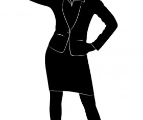 Professional Women vector silhouettes set 09