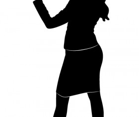 Professional Women vector silhouettes set 10