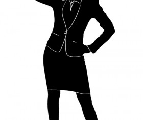 Professional Women vector silhouettes set 11