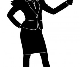 Professional Women vector silhouettes set 14
