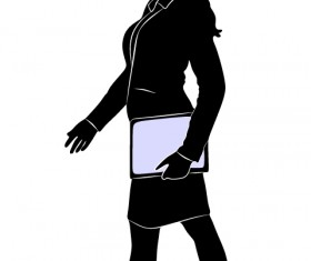 Professional Women vector silhouettes set 15