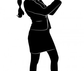 Professional Women vector silhouettes set 20