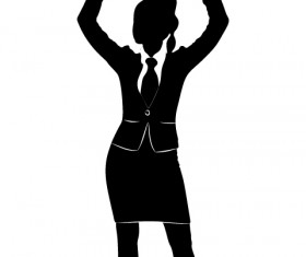 Professional Women vector silhouettes set 23