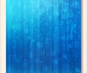 Rain water blurs background vector 01