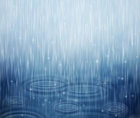 Rain water blurs background vector 02