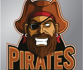 Retro pirates logo vector 02