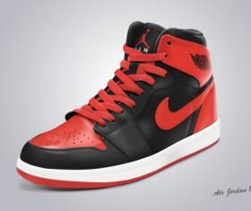 Shoe nike psd template