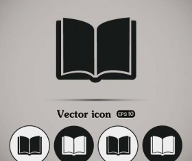 Simple book icons vector set 04