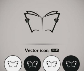 Simple book icons vector set 06