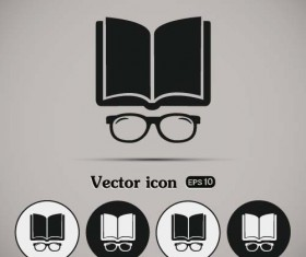 Simple book icons vector set 07