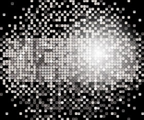 banner of silver sequins