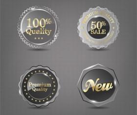 Transparent glass sale labels vectors