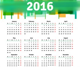 Vector grid calendar 2016 design material 05