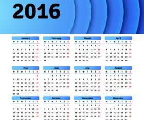 Vector grid calendar 2016 design material 06