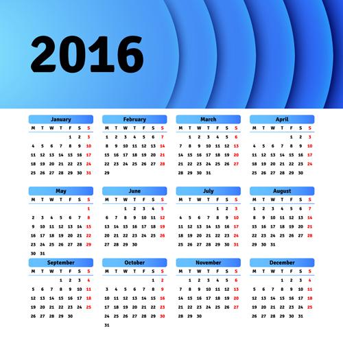 Calendar Design Material : Vector grid calendar design material