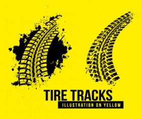 Vintage tire tracks art backgrounds vector