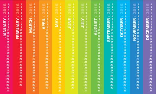 vertical calendar