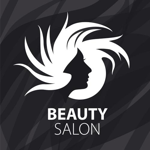 Woman Head With Beauty Salon Logos Vector 01