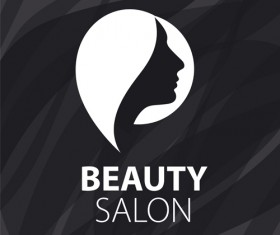 Woman head with beauty salon logos vector 03
