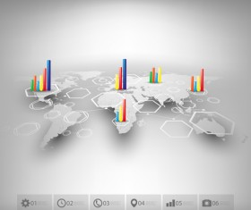 World maps infographics design vectors 08