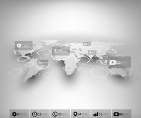World maps infographics design vectors 10