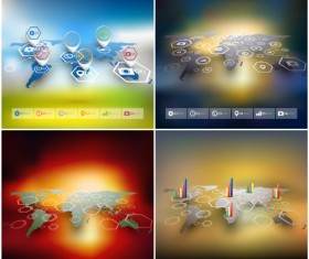 World maps infographics design vectors 12