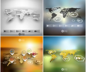 World maps infographics design vectors 14