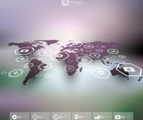 World maps infographics design vectors 15