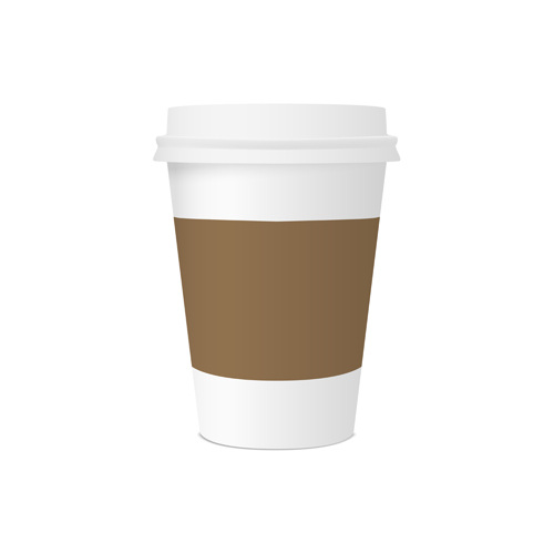brown coffee paper cup vector graphics - Vector Cover free ...