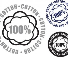 100% cotton premium quality labels vector 04