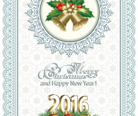 2016 Christmas and new year lace background vector