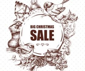 2016 Christmas big sale hand drawn vector 02