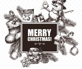 2016 Christmas big sale hand drawn vector 03