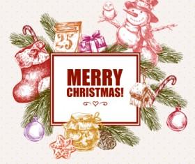 2016 Christmas big sale hand drawn vector 04
