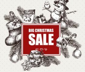 2016 Christmas big sale hand drawn vector 05