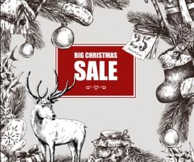 2016 Christmas big sale hand drawn vector 06
