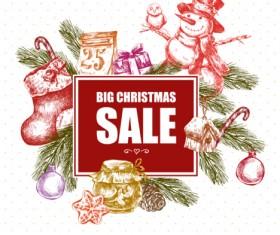 2016 Christmas big sale hand drawn vector 07