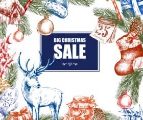 2016 Christmas big sale hand drawn vector 08