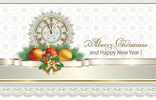 2016 christmas new year gold background vectors 02