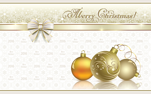 2016 christmas new year gold background vectors 07