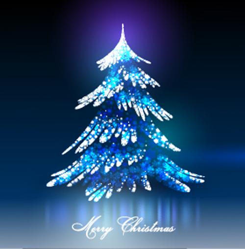 2016 Christmas with shiny christmas tree vector free download 5951b18462
