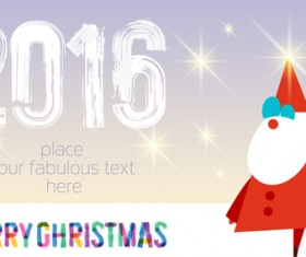 2016 merry christmas with shiny stars background vector 01